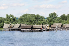 Prehistory Lake Dwellings on the lake of Constance Stock Image