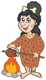 prehistoryczna kreskówki kobieta Obraz Stock