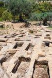 Prehistoryczni grobowowie w dolinie świątynie Obrazy Royalty Free