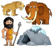 Prehistoryczny temat ustawia 2 royalty ilustracja