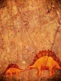 Prehistoryczny tło z dinosaurem Fotografia Stock
