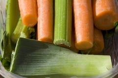 Prei en wortelen royalty-vrije stock afbeelding