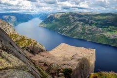 Preikestolen Νορβηγία Στοκ εικόνα με δικαίωμα ελεύθερης χρήσης