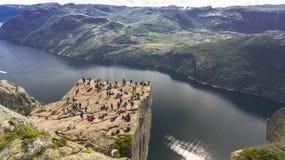 Preikestolen или утес амвона над Lysefjord Стоковое фото RF