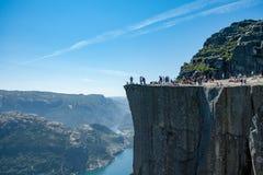 Preikestolen - утес амвона в Норвегии Стоковая Фотография