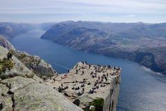 Preikestolen e Lysefjord 029 Imagem de Stock Royalty Free