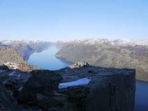 Preikestolen en Norvège Images libres de droits