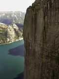 Preikestolen fjord Royalty Free Stock Images