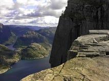 Preikestolen fjord Stock Photography