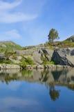 Preikestolen glaciär sjö 10 Royaltyfri Foto