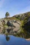 Preikestolen glaciär sjö 09 Royaltyfria Bilder