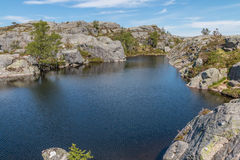 Preikestolen Glacier Lake Royalty Free Stock Image
