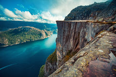 Free Preikestolen In Norway Stock Image - 93067731