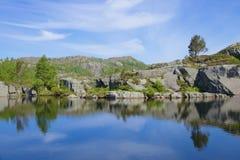 Preikestolen Lodowiec jezioro 01 Obrazy Stock