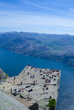 Preikestolen и Lysefjord 046 Стоковое Изображение