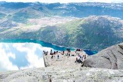 Preikestolen Lysefjord Stockfotos
