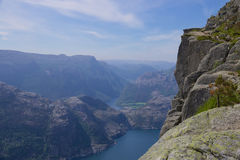 Preikestolen and Lysefjord Stock Photography