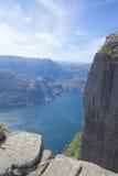 Preikestolen and Lysefjord Stock Image
