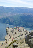 Preikestolen and Lysefjord 026 Stock Photography