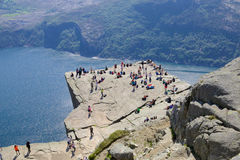 Preikestolen and Lysefjord Royalty Free Stock Photo