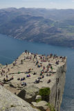 Preikestolen and Lysefjord Royalty Free Stock Image