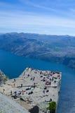 Preikestolen and Lysefjord 046 Stock Image