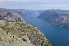 Preikestolen and Lysefjord 061 Royalty Free Stock Photo
