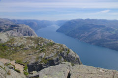 Preikestolen and Lysefjord 100 Royalty Free Stock Images
