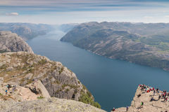 Preikestolen and Lysefjord Royalty Free Stock Photos