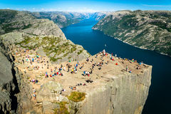 Preikestolen, Norway Royalty Free Stock Image