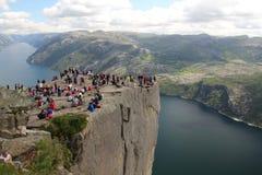 Preikestolen, Norway Stock Photos