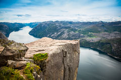 Preikestolen or Prekestolen Stock Photography