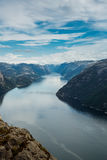 Preikestolen or Prekestolen Stock Photos