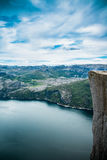 Preikestolen or Prekestolen Royalty Free Stock Photo