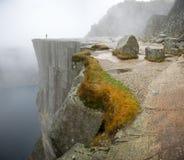 Preikestolen, Pulpit βράχος Στοκ Φωτογραφία