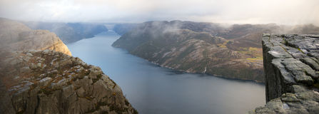 Preikestolen, Pulpit Rock Royalty Free Stock Images