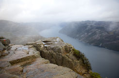 Preikestolen, Pulpit Rock Stock Image