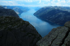 Preikestolen (Pulpit Rock) Stock Image