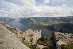 Preikestolen rock Stock Images