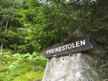 Preikestolen Sign Stock Images
