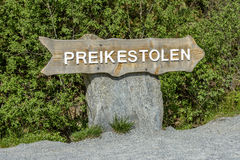 Preikestolen undertecknar in Norge Arkivbilder