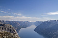 Preikestolen view Royalty Free Stock Images
