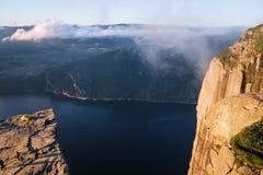 Preikestolenklip, Noorwegen Royalty-vrije Stock Foto