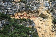 Preincamausoleum Revash in de bergen van noordelijk Peru Royalty-vrije Stock Fotografie