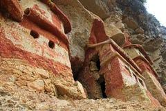 Preincamausoleum Revash in de bergen van noordelijk Peru Royalty-vrije Stock Foto's