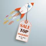 Preis-Aufkleber Angebot Rocket Lizenzfreies Stockbild