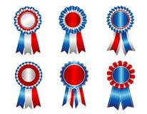 Preis-Bandrosette USA patriotische Lizenzfreie Stockfotos