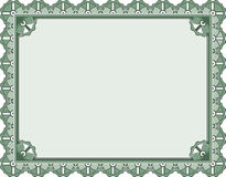 Preis-Bescheinigungsschablone Lizenzfreie Stockbilder