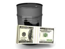 Preis des Öls stock abbildung