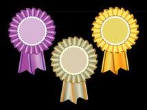Preis-Rosette Stockbild